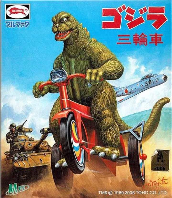 Godzilla on a tricycle
